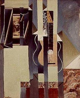 Juan Gris: Stilleben mit Gitarre und aufklebtem Foto