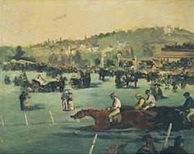 Edouard Manet: Pferderennen im Bois de Boulogne
