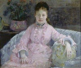 Berthe Morisot: Frau in rosafarbenem Kleid