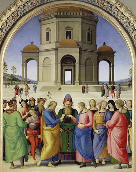 Perugino (Pietro Vanucci): Die mystische Vermählung der heiligen Jungfrau