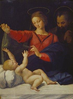 Raffael (Raffaello Sanzio): Hl.Familie, sogenannte Madonna del Velo. Kopie des verschollenen Gemäldes