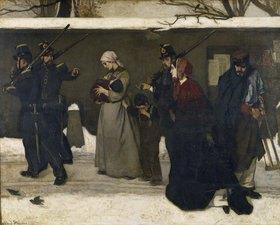 Alfred Stevens: Die Verhaftung der Landstreicher. Vor