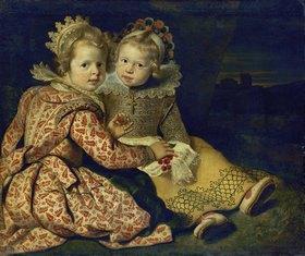 Cornelis de Vos: Magdalena und Jan-Baptist de Vos, die Kinder des Malers