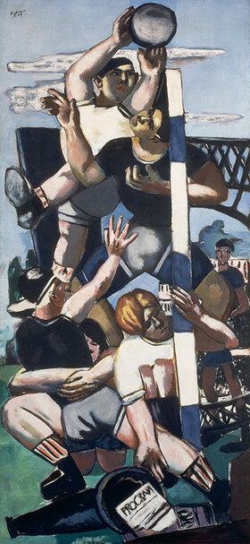 Max Beckmann: Die Rugbyspieler