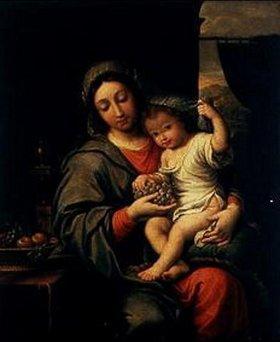 Italienisch: Madonna mit Kind und Trauben