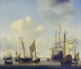 Willem van de Velde d.J.: Kriegsschiffe bei Amsterdam