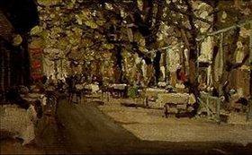 Alexejew. Konstantin Korovin: Im einem Caféhaus-Garten in Jalta