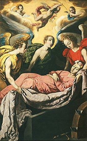 Francisco Zurbaran y Salazar: Die Grablegung der hl. Katharina von Alexandrien auf dem Berg Sinai. Nach