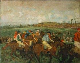 Edgar Degas: Vor dem Start (Course de gentlemen)