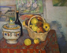 Paul Cézanne: Stilleben mit Obstkorb und Suppenterrine