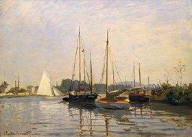 Claude Monet: Segelboote in Argenteuil. Gegen