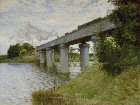 Claude Monet: Eisenbahnbrücke bei Argenteuil. Gegen