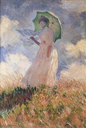 Claude Monet: Frau mit Sonnenschirm, nach links gewendet (Suzanne Hoschedé)