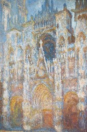Claude Monet: Die Kathedrale von Rouen. Das Portal in der Morgensonne. Harmonie in blau