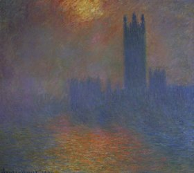 Claude Monet: London, das Parlament. Die Sonne bricht durch den Nebel