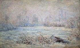 Claude Monet: Rauhreiflandschaft bei Vétheuil