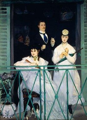 Edouard Manet: Der Balkon. Berthe Morisot, Fanny Claus und Antoine Guillemet. 1868/69