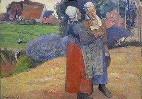 Paul Gauguin: Bretonische Bäuerinnen im Gespräch