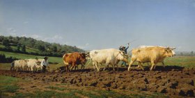 Rosa Bonheur: Pflügen mit Ochsen im Nivernais