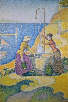 Paul Signac: Junge Provençalinnen am Brunnen