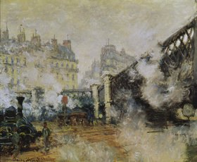 Claude Monet: Die Europabrücke am Gare Saint-Lazare
