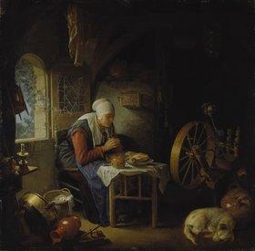 Gerrit (Gerard) Dou: Das Tischgebet der Spinnerin