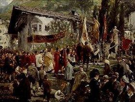 Adolph von Menzel: Prozession in Hofgastein