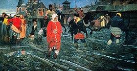 Andrej Petrow Rjabuschkin: Strasse in Moskau