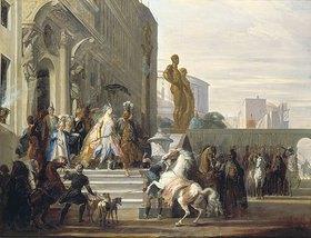 Cornelis Troost: Dido, Aeneas und Ascanius auf dem Weg zur Jagd