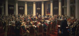 Ilja Efimowitsch Repin: Feierliche Sitzung des Zaristischen Kronrates