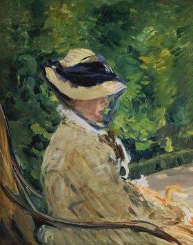 Edouard Manet: Madame Manet im Garten von Bellevue