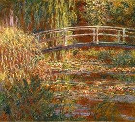 Claude Monet: Seerosenteich und japanische Brücke (Harmonie in rosa)