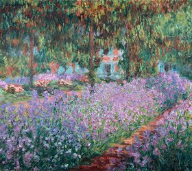 Claude Monet: Blühende Iris in Monets Garten