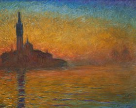 Claude Monet: Venedig bei Sonnenuntergang