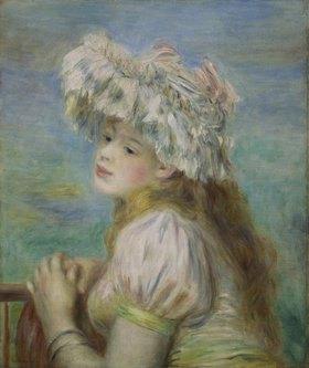Auguste Renoir: Junge Frau mit einem Hut aus Spitzen