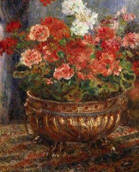 Auguste Renoir: Blumenstilleben in Messinggefäss
