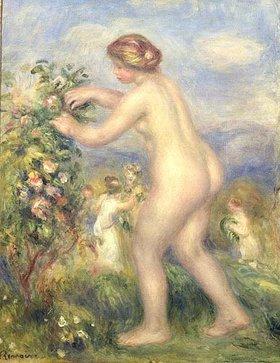 Auguste Renoir: Nackte junge Frau in Landschaft