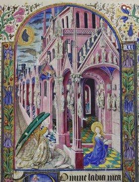 französisch Handschrift: Verkündigung Mariae. Aus Heures de Louis de Savoie