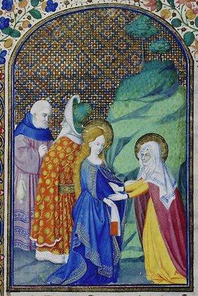 französisch Handschrift: Heimsuchung Mariae. Aus Heures de Louis de Savoie