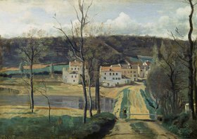 Jean-Baptiste Camille Corot: Ville-d'Avray (Les maisons Cabassud)