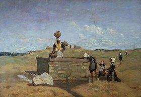 Jean-Baptiste Camille Corot: Bretonische Frauen am Brunnen