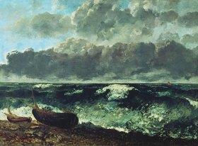 Gustave Courbet: Stürmische See (oder Die Welle)
