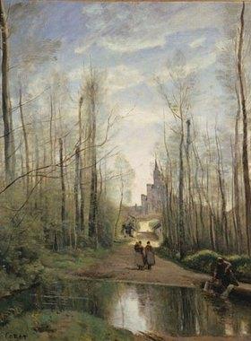 Jean-Baptiste Camille Corot: Bei der Kirche von Marissel