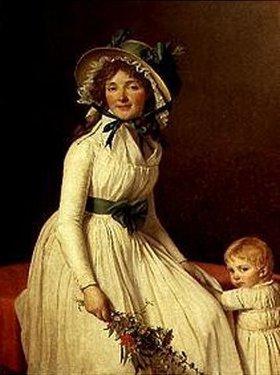 Jacques Louis David: Bildnis der Madame Sérizat mit ihrem Sohn