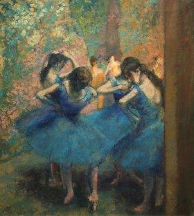 Edgar Degas: Die blauen Tänzerinnen. Gegen