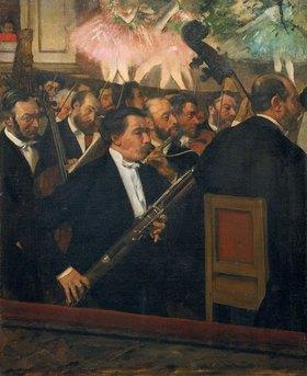 Edgar Degas: Das Orchester der Oper. Gegen