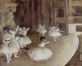 Edgar Degas: Ballettprobe auf der Bühne