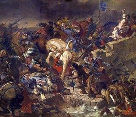 Eugene Delacroix: Die Schlacht von Taillebourg am 21.Juli 1242. Entstanden