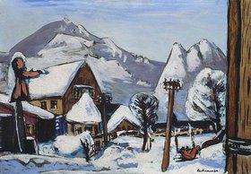 Max Beckmann: Schneelandschaft, Garmisch-Partenkirchen
