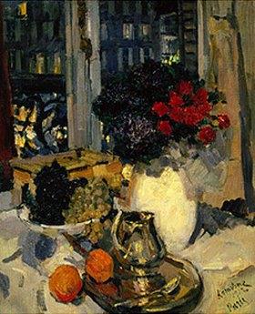 Alexejew. Konstantin Korovin: Stilleben am Fenster des Pariser Ateliers